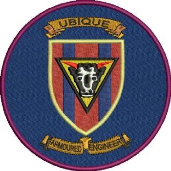 Armoured Engineer Embroidered Badge